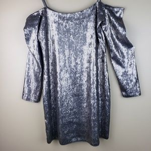 NWT Express Sequin Off Shoulder Dress Size MP